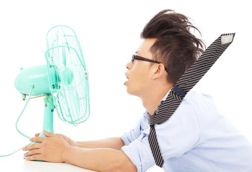 Aircon warm air
