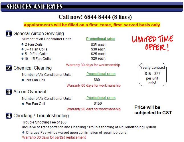 Aircon Servicing Price